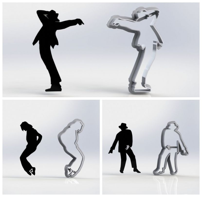 Cortador Kit Silhuetas Michael Jackson - 3 Modelos