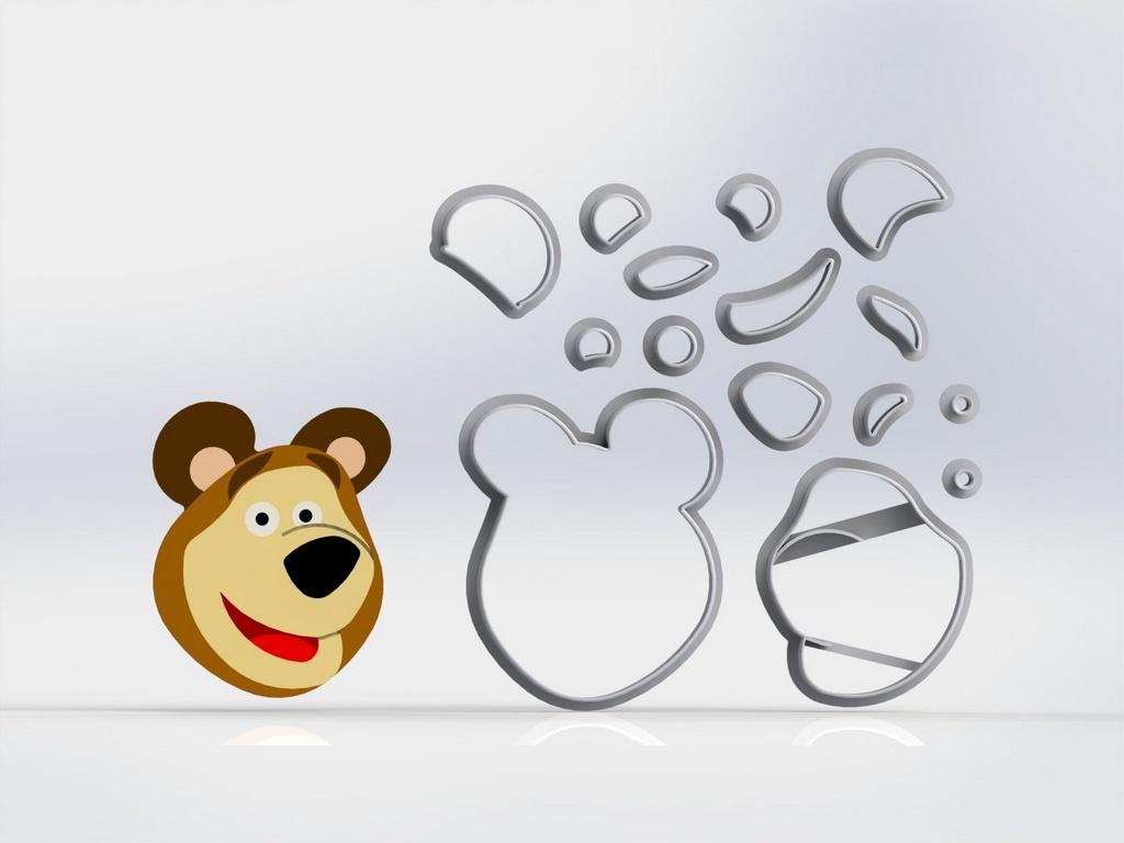 Cortador Masha e o Urso Modulares