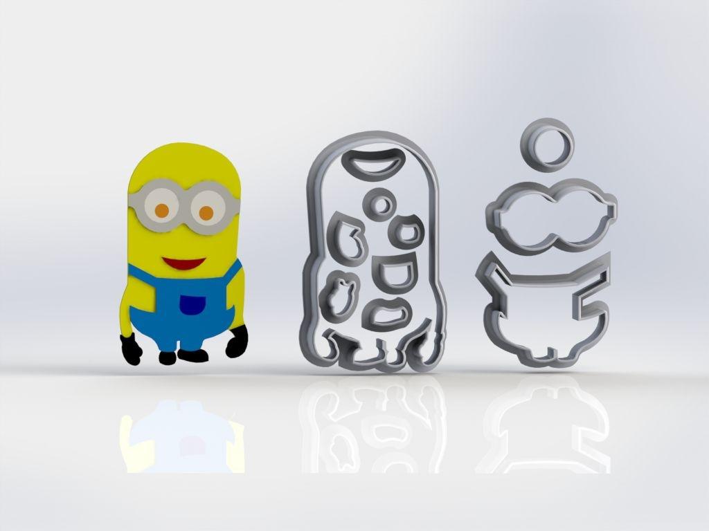 Cortador Minions 01 Personagem Mod 2 Modular