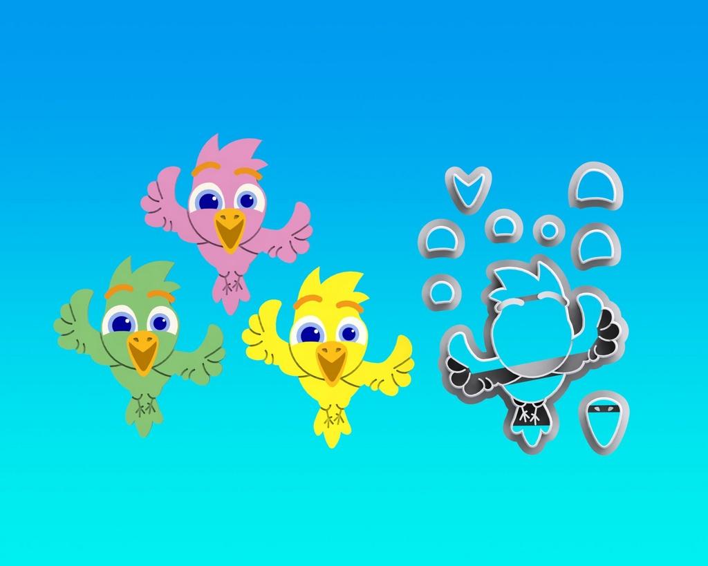 Cortador Mundo Bita - Pássaro Modular ( Passarinhos)
