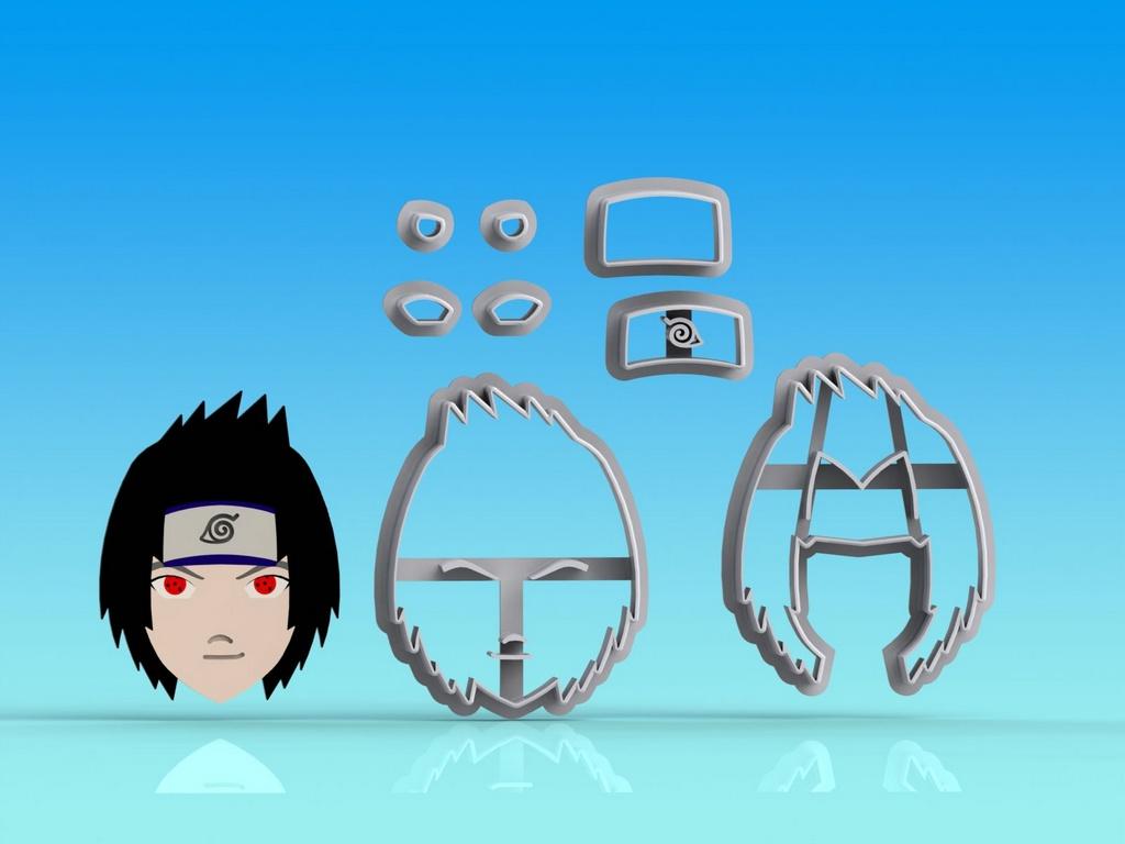 Cortador Naruto Sasuke - Modular
