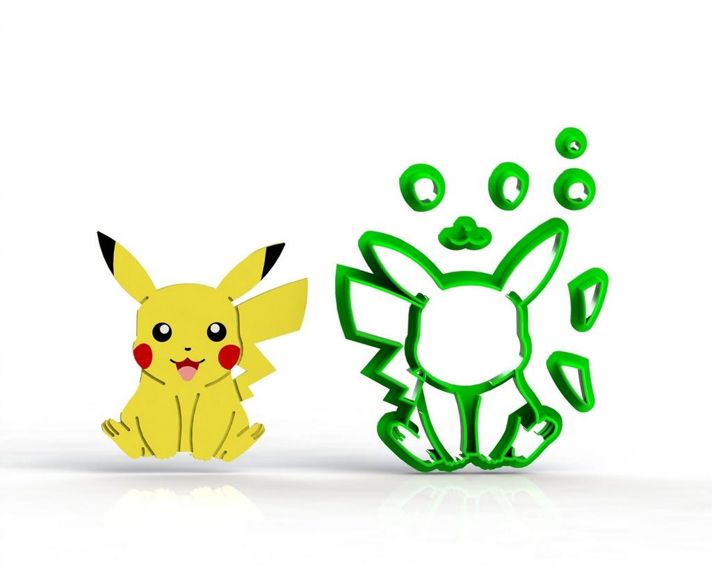 Cortador Pokemon  Pikachu Modular