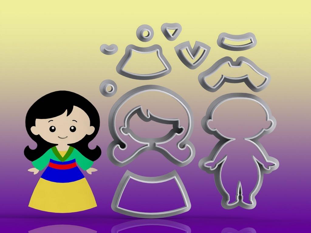 Cortador Princesa Mulan Modular