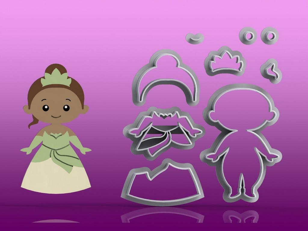 Cortador Princesa Tiana Modular