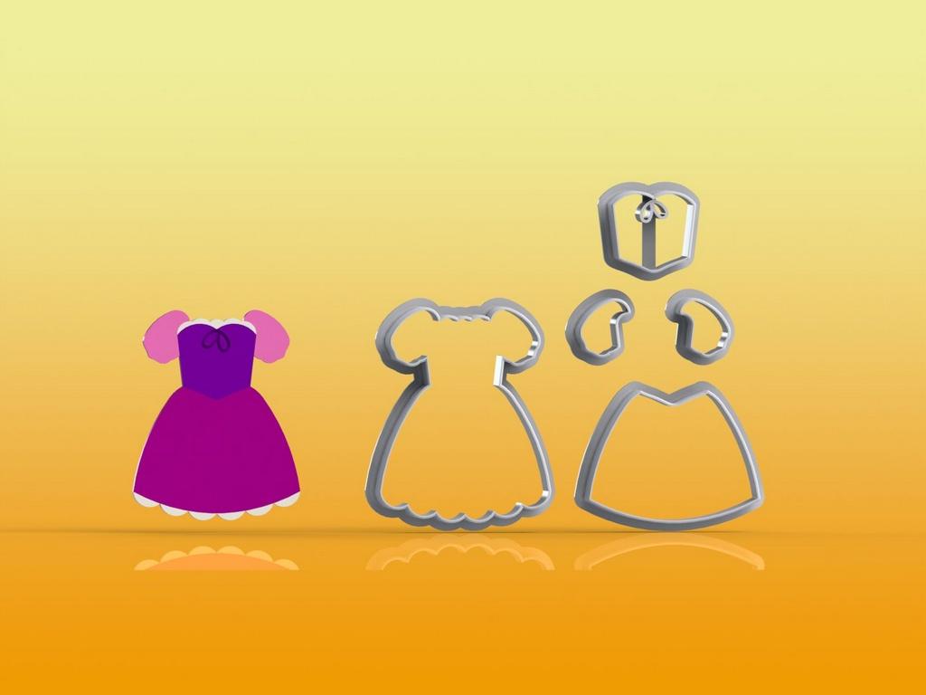 Cortador Rapunzel Vestido Modular
