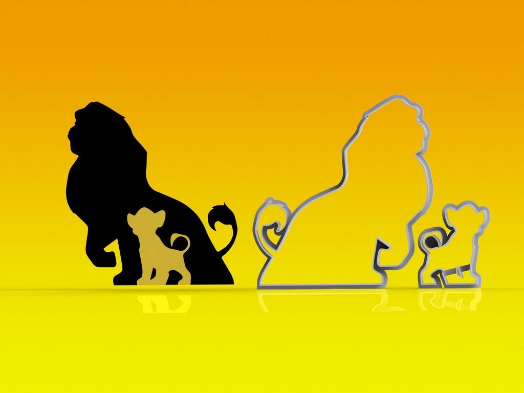 Cortador Rei Leão - Mufasa e Simba - 10 cm