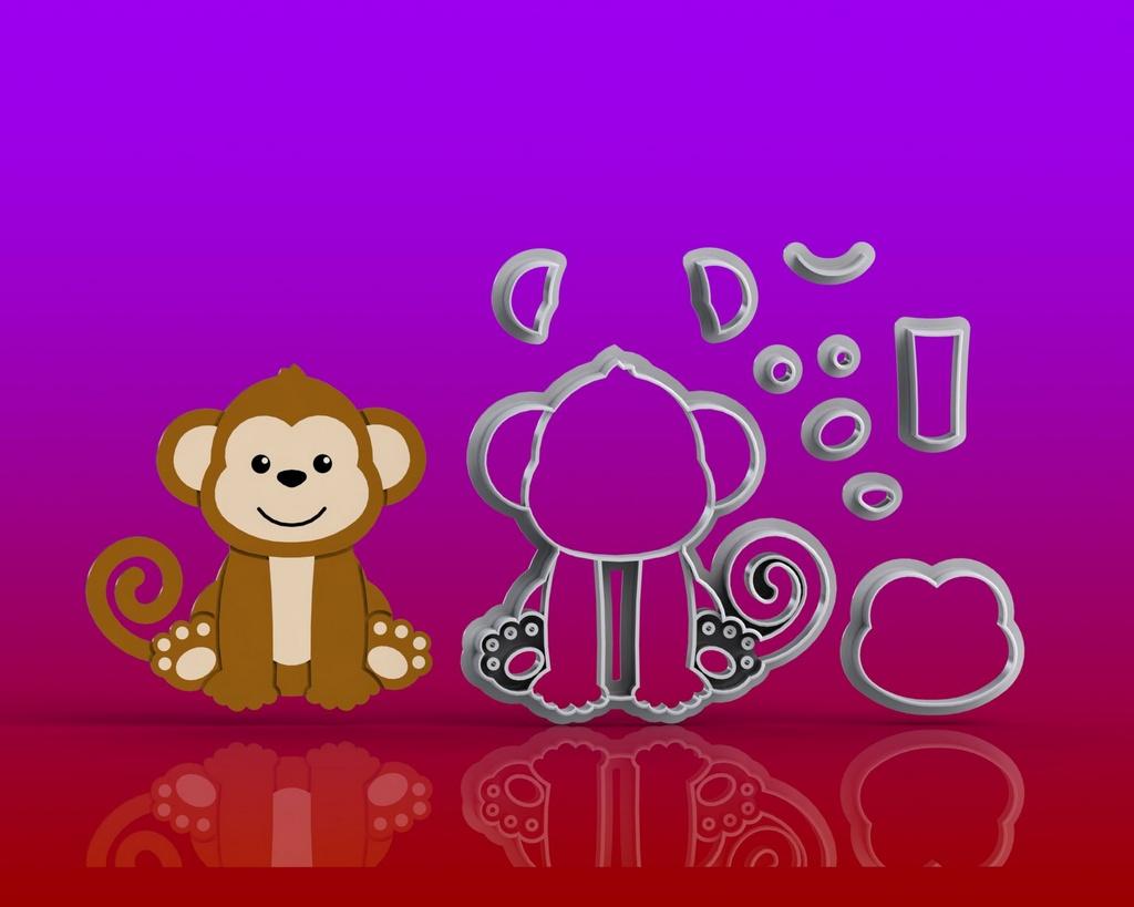 Cortador Safari Corpo - Macaco Modular