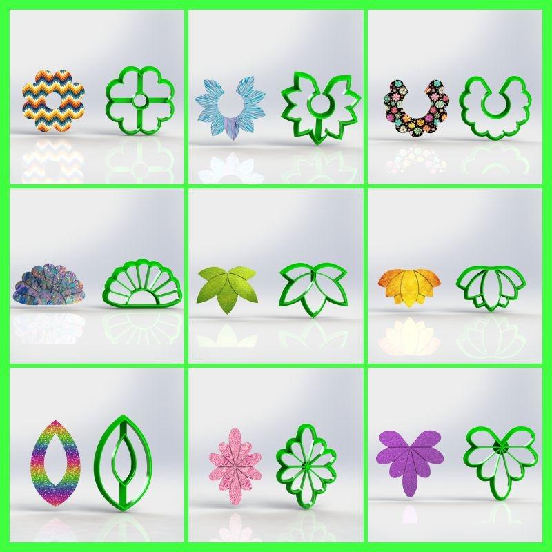 Cortadores  Kit Polymer Clay  (Diversos Mod 2)
