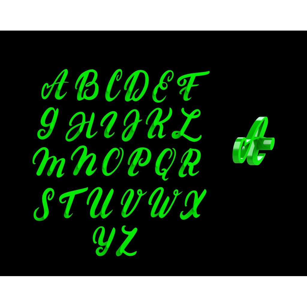 Marcador Alfabeto Letras Cursivas (Maiúsculo e Minúsculo) Mod 1
