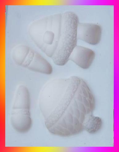 Molde de Silicone Menina/Menino Boneca com Gorro de Neve Natal