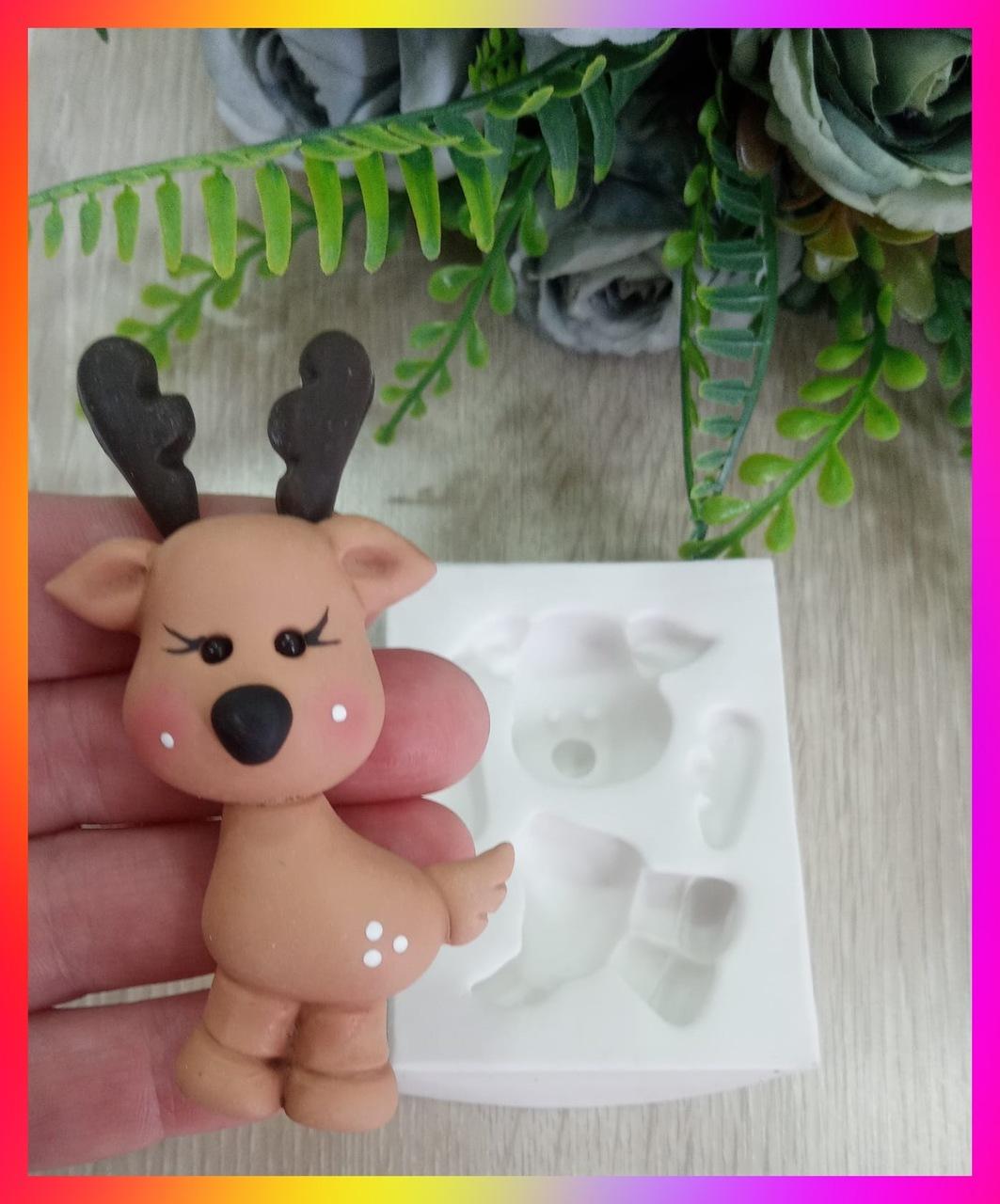 Molde de Silicone Rena de Natal (Henna) 3D