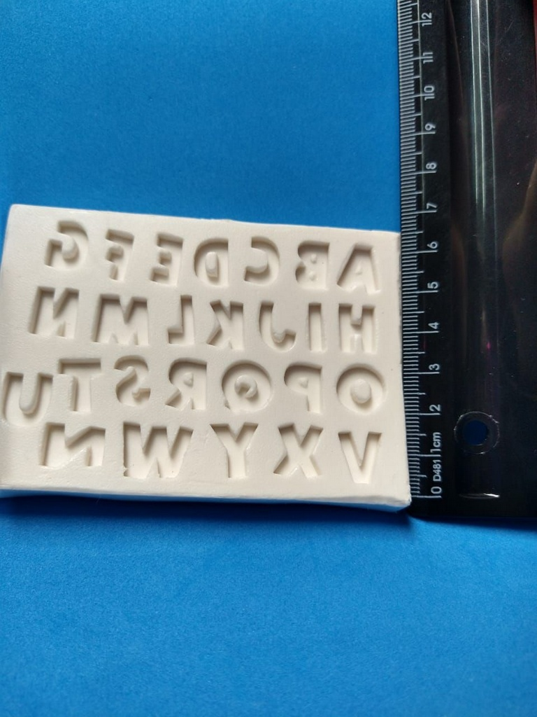 Molde silicone Alfabeto Mini (1 x 1)