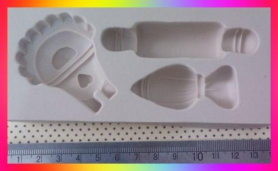 Molde silicone Confeitaria Saco de confeitar Avental Rolo