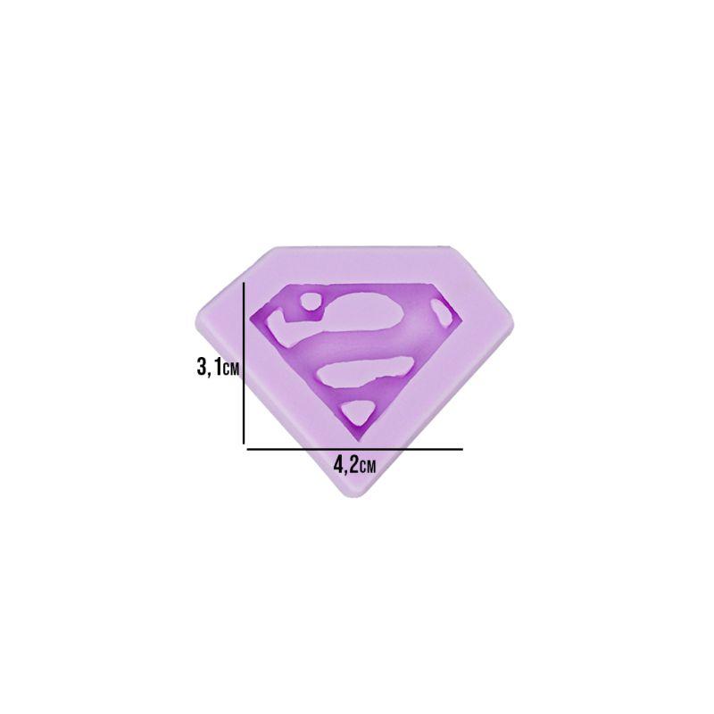 Molde Silicone Heroi Superman