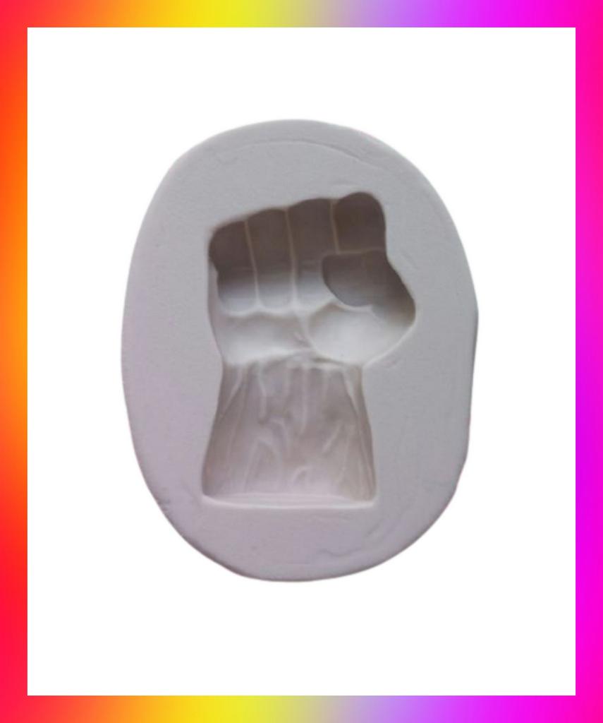Molde silicone Herois Hulk Mão Hulk Punho Vingadores Vingador