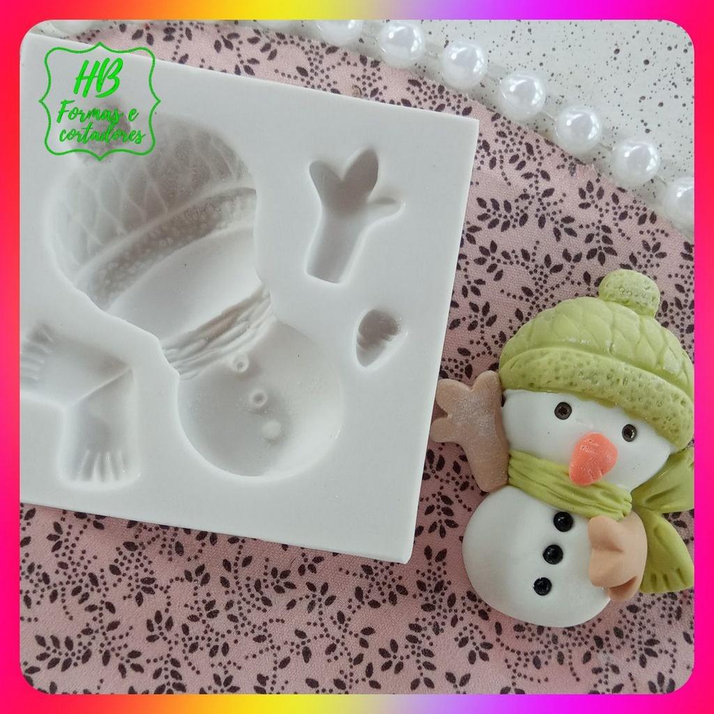 Molde silicone Natal Boneco De Neve Mod 2