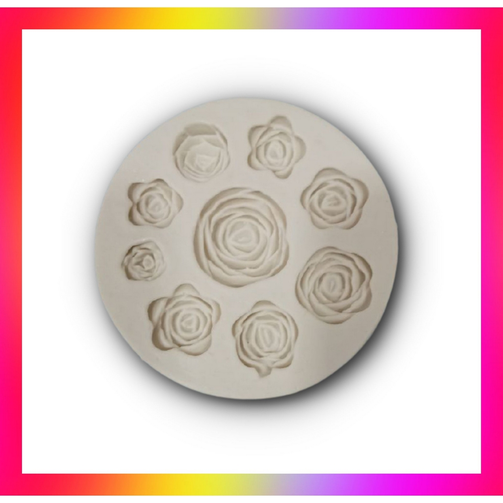 Molde silicone Rosas (9 Modelos)