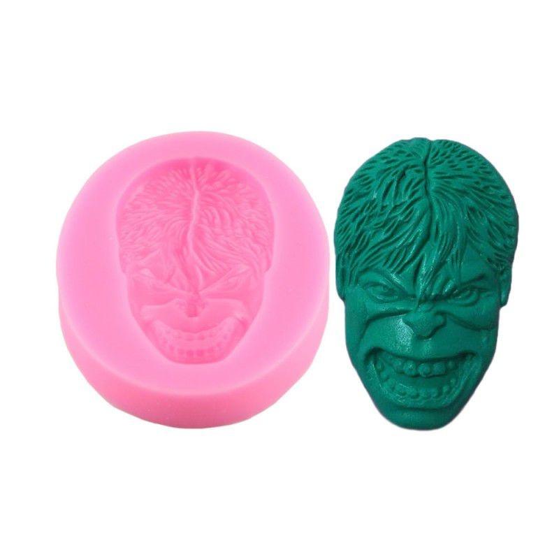 Molde Silicone Super Heroi Vingador Hulk Verde