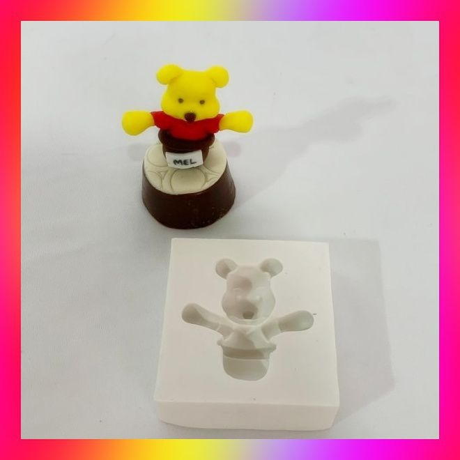 Molde silicone Ursinho Pooh ( No Pote de Mel)
