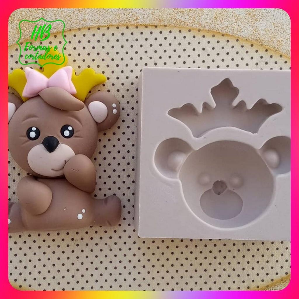 Molde silicone Urso Coroa