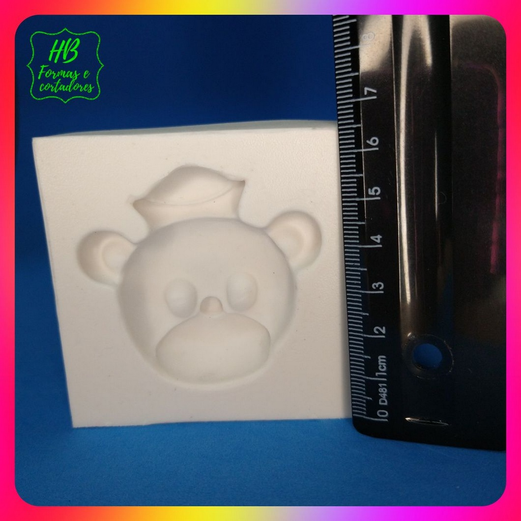 Molde silicone Urso Marinheiro