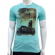 Camiseta com Estampa Carro - Burg