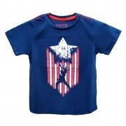 Camiseta Infantil - Capitão América - Azul