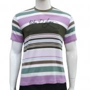 Camiseta Listrada com Bordado - Pedra D'Agua