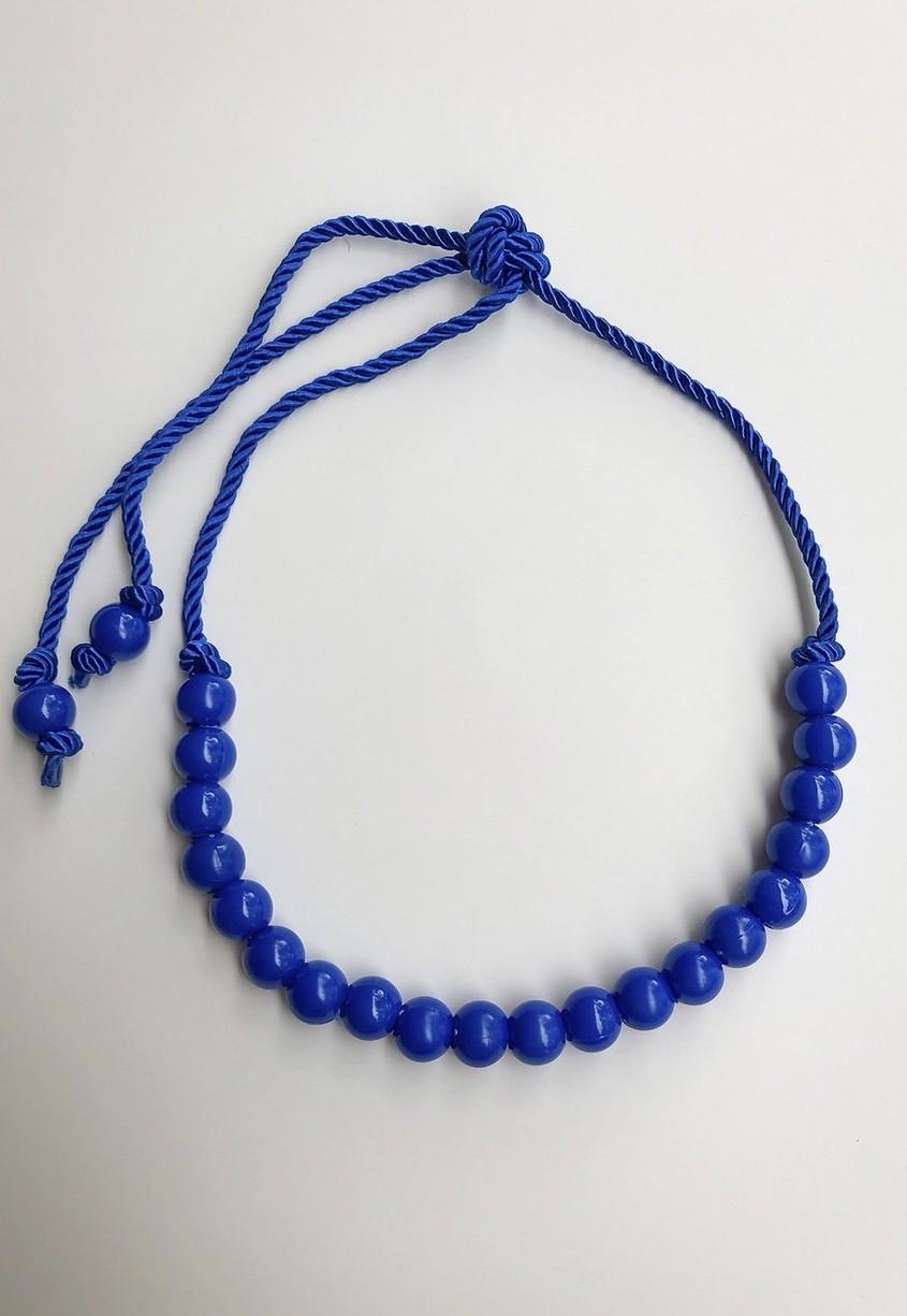 Cinto LUXO Corda e Bolas Esferas Azul Royal