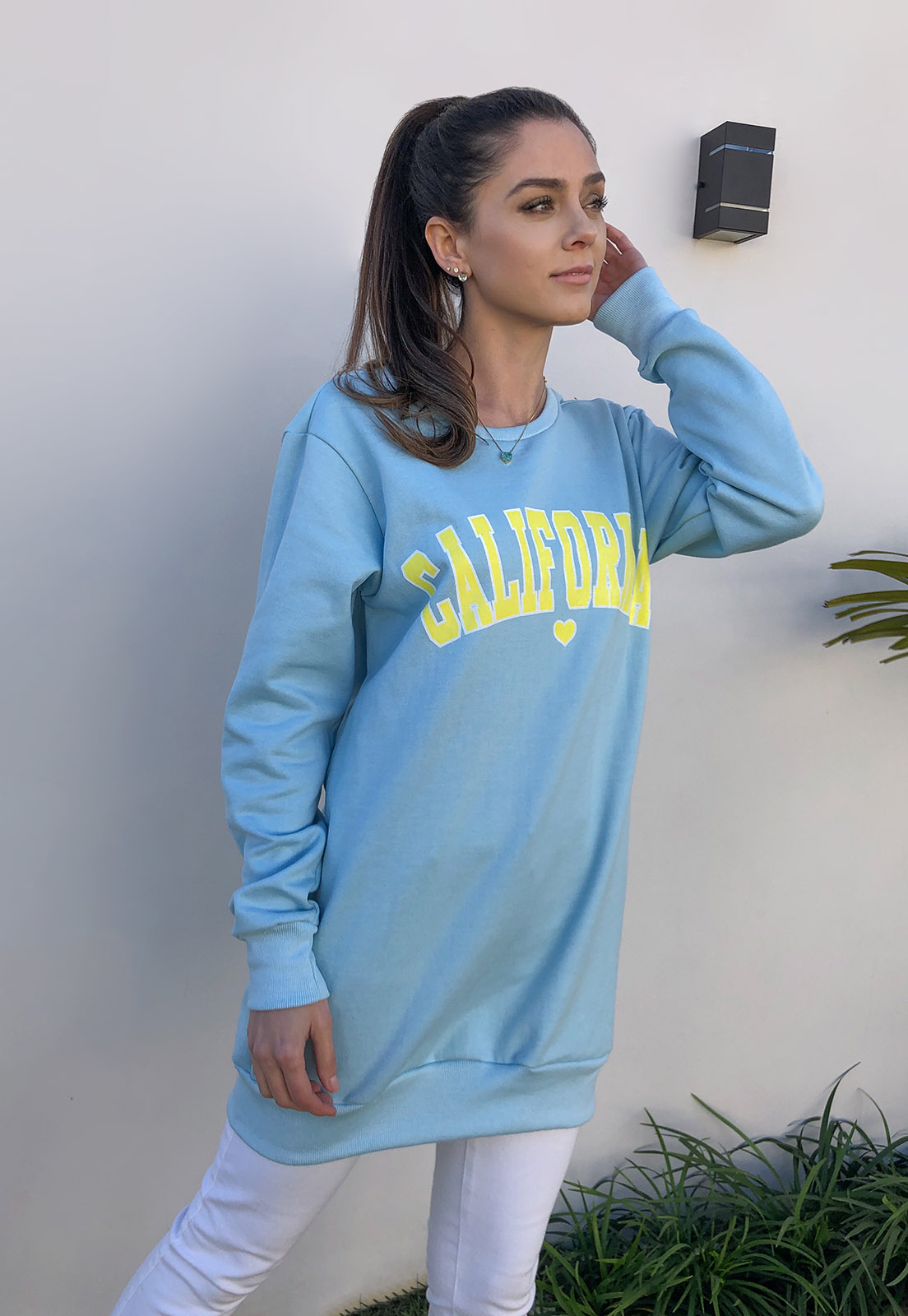 Maxi Moletom Azul Califórnia