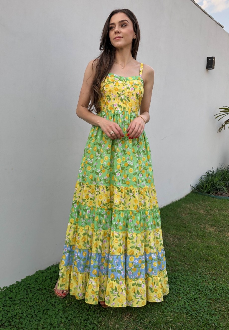 Vestido Longo Limões