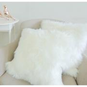 Capa Almofada Pelúcia 29cm x36cm Pelego Branco