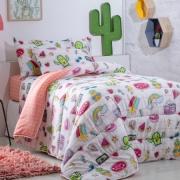 Jogo de Cama Infantil 3 Peças Happy Day Cactus