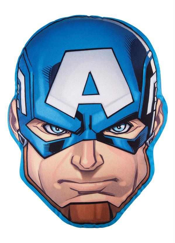 Almofada Infantil Avengers Capitão América 30 cm x 40 cm