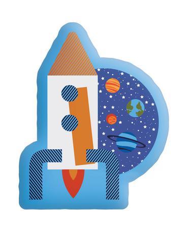 Almofada Infantil Transfer Espaco Divertido 32 cm x 40 cm