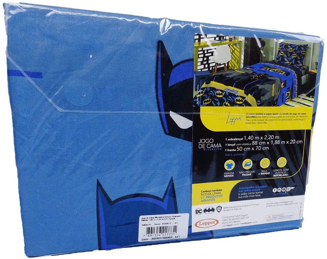 Jogo de Cama Infantil 2 peças Microfibra Batman