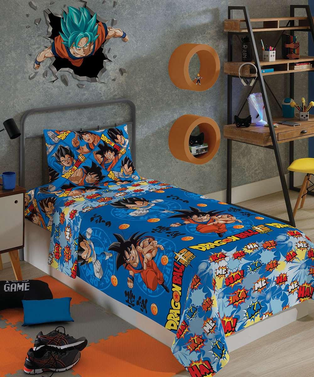 Jogo de Cama Infantil 2 peças Microfibra Dragon Ball