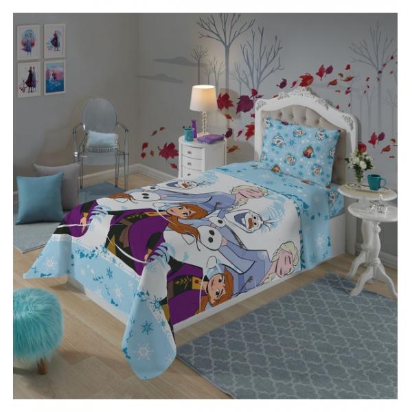 Kit Almofada Frozen Anna + Toalha Felpuda Infantil Frozen+ Jogo de cama Frozen 2 peças
