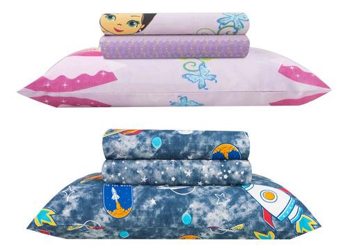 Kit Jogo de cama Infantil 3 peças Lady + Apollo