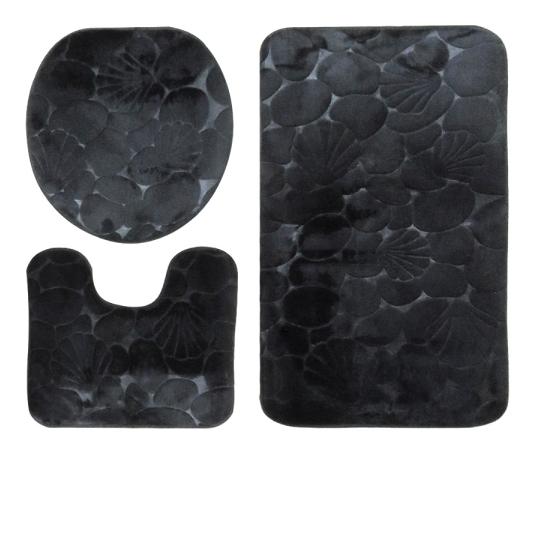Kit Tapete Banheiro Soft 3 Peças Antiderrapante