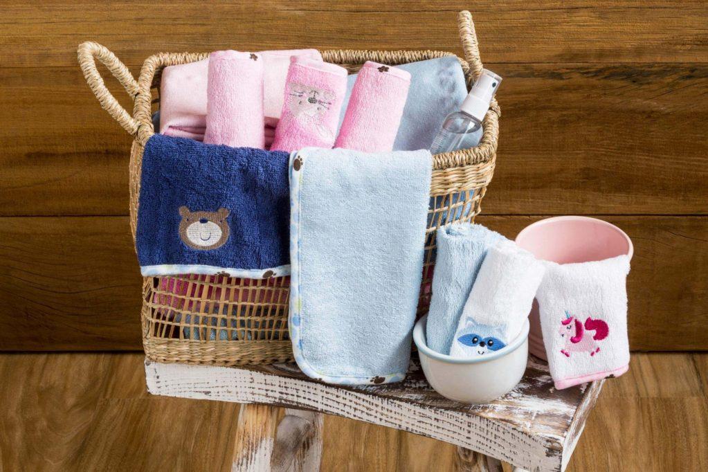 Kit toalhas de boca 4 peças Azul