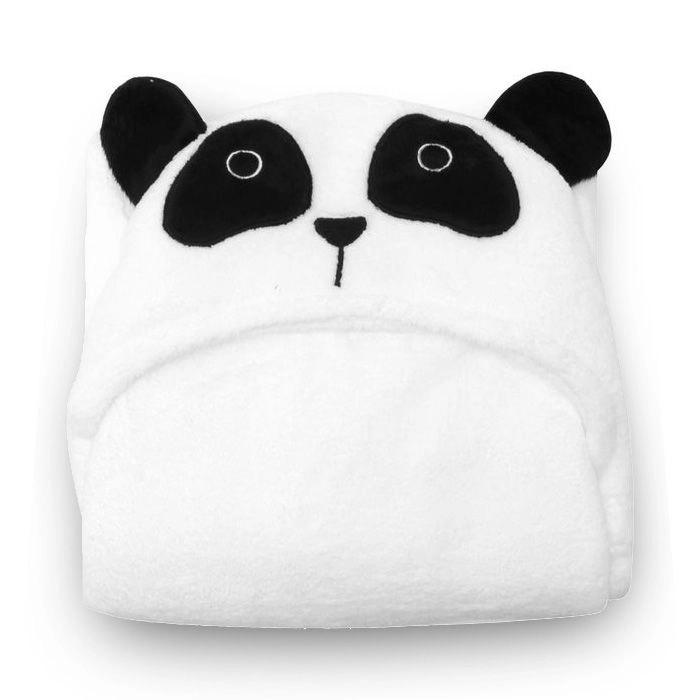 Manta Fleece com Capuz Bebê Panda