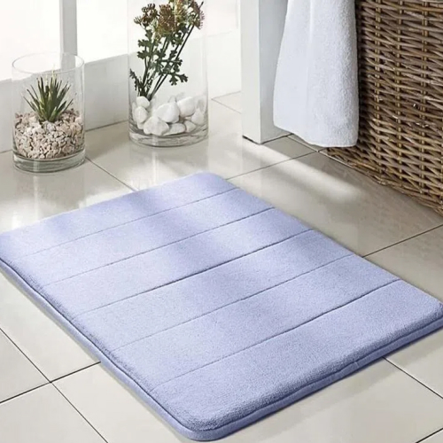 Tapete de Banheiro Super Soft Azul 60cm x 40cm Camesa