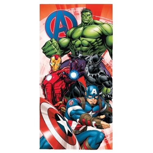 Toalha Aveludada Transfer Avengers 70 cm x 1,40 m