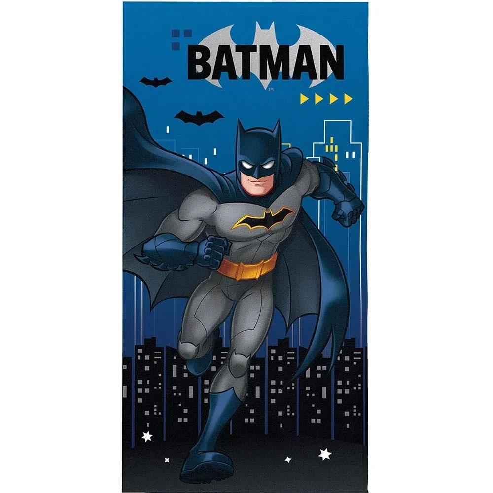 Toalha Aveludada Transfer Batman 70 cm x 1,40 m