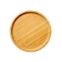 Bandeja Redonda De Bambu 25Cm Fx