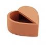 Cachepot Coração Terracota em Cimento