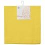 Conjunto 2 Guardanapos Algodão Amarelo 40X40Cm - Royal