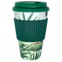Copo De Fibra De Bambu Amazônia Com Tampa De Silicone 400Ml