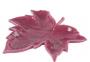 Folha Decorativa Cerâmica Vermelha 16x16x3